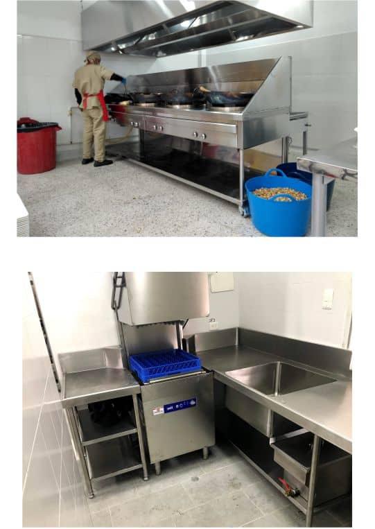fabricación de cocinas industriales
